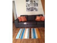 Large charcoal modern sofa