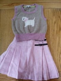 Darcy Brown skirt and top for girls - age 3 years