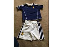 9-12 month Scotland football strip baby