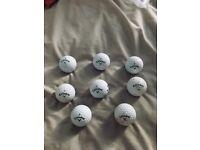 Golf balls Srixon Callaway Titleist