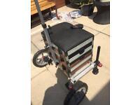 Daiwa SB 100 5 drawer seat box, with wheel kit