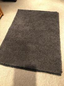 Chocolate brown rug, 120 x 170cm