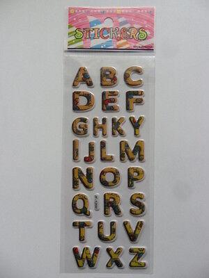 (1) Sticker Aufkleber Buchstaben 3D Softy ABC Scrapbooking Basteln Verzieren ()