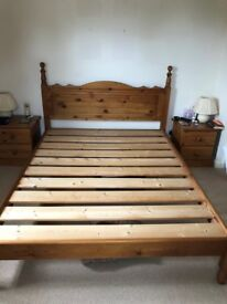 Kingsize Pine Bed - Free if collected