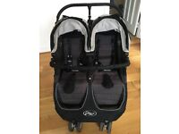 Double pushchair - Baby Jogger City Mini (Black and cream)