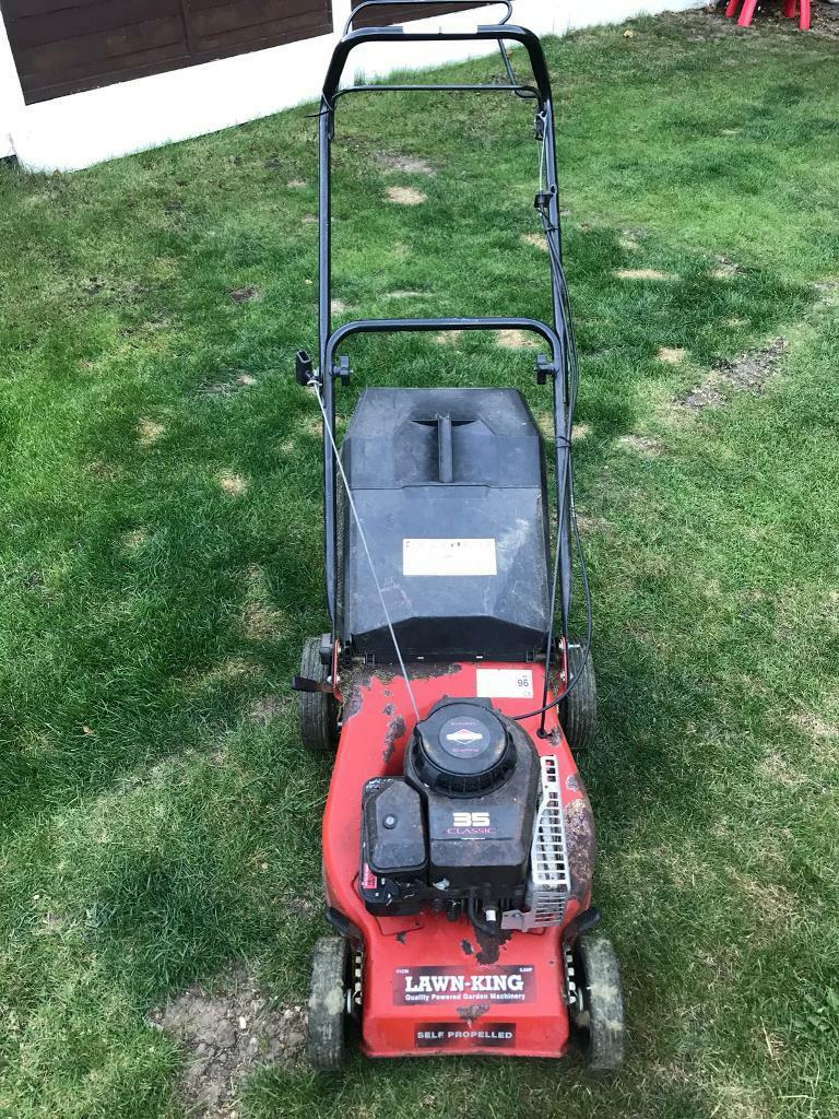 Lawn king petrol lawn mower Briggs and Stratton engine