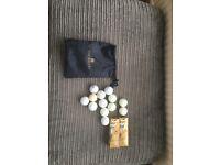 Golf balls with bag