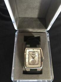 DKNY watch with original leather strap and presentation box