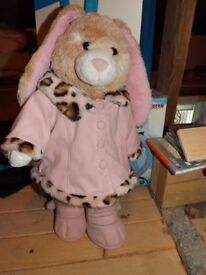 Bear Factory - Build a Bear - Rabbit & Clothes - Ideal for Christmas