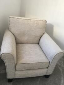2 Fabric Brisbane accent chairs