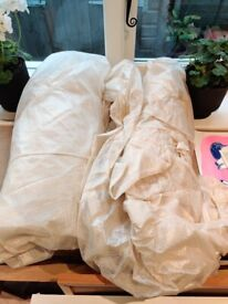 2x XL plastic backed dust sheets