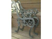 Heavy Metal Bench Ends(lion heads)