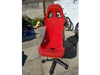 Office gaming computer bucket seat chair