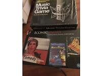 ICONIC classics - comedy Movies book DVD set & Music trivia game