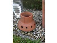 Chimney top planter terracotta nicely weathered