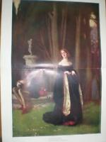 The Wanderer Mary Y Hunter Colour Print 1907 - hunter - ebay.co.uk