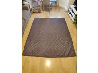 Quilted blanket double sided pearl and metallic purple, FREE TO A GOOD HOME
