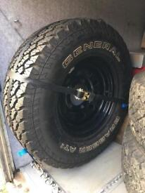 Defender all terrain tyres and modular wheels
