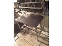 Pizza topping table