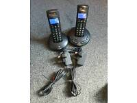 BT graphite 2500 cordless home phone set with answer machine