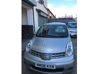 Nissan note 1.6 MPV petrol 5 doors hatchback 5 seater family car 2008 08 plate
