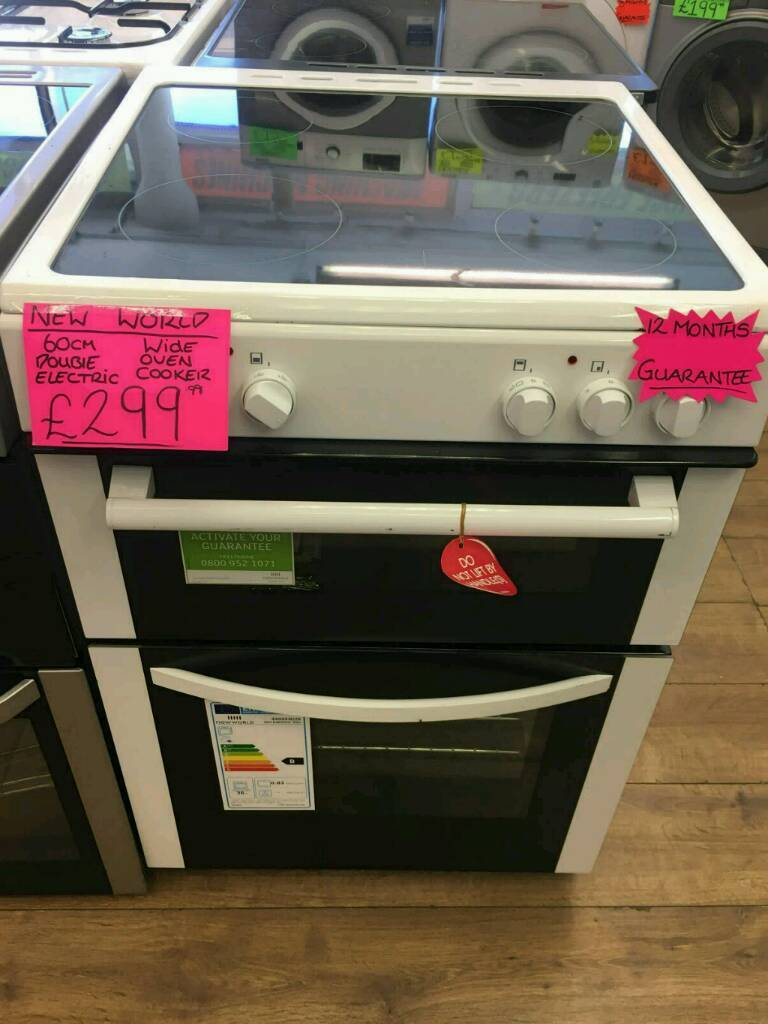 NEW WORLD 60CM ELECTRIC DOUBLE OVEN COOKER IN WHITE ☆BRAND NEW☆