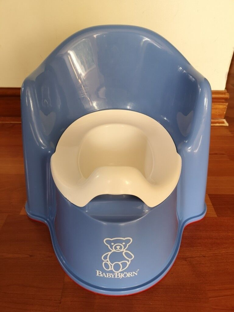 e5de2bd488a Baby Bjorn potty chair ocean blue - immaculate condition and fully cleaned