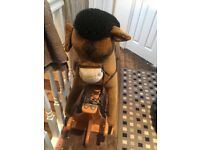 Rare Harrods rocking horse. Hardly used. In good condition. Collection only
