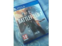 battlefield 1 new condition used a couple of times amazing game but sold my ps4 so needs to go