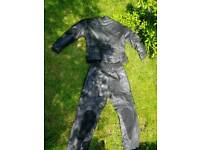 2 piece leather bike suit