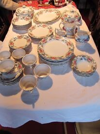 Tableware - Booth's Flora Dora Dinner Service 60 pieces