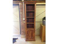 Wooden tall shelf unit