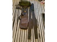 Carp fishing rods rod bag plus sleeves and carryall