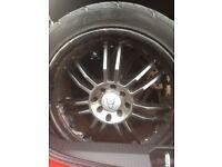 """17"""" wolf race alloy wheels"""