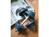 Dumbbell set 18kg cast iron