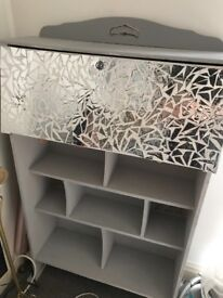 Bureau with mosaic effect front. Could do with a repaint
