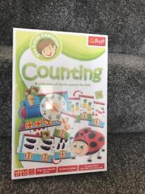 Kids counting game in packaging