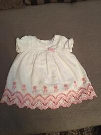 Cute white baby girl dress