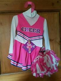 Cheer leading children's dress up outfit 3 to 4 years