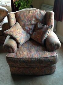 Two big comfy armchairs looking for a good home