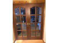 Double mahogany glass doors