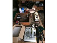 Axminster variable speed lathe, chisels and accessories