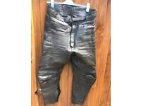 """Frank Thomas"" motorcycle leather trousers"