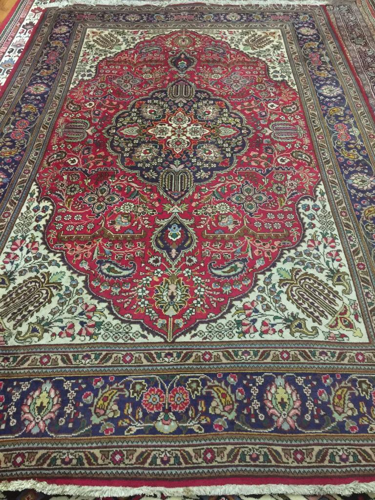 Tabriz Persian Handmade Wool Rug In Grange Edinburgh