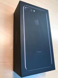 APPLE IPHONE 7 PLUS 128GB JET BLACK (unlocked) BOXED