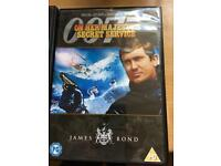 4 James Bond DVDs