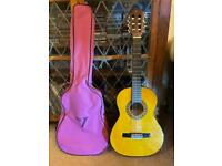 Acoustic Guitar and Case - Junior / 3/4 size.