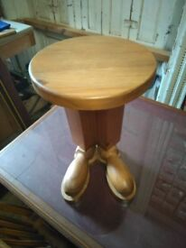 Unusual pine feet stool