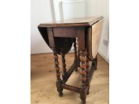 1950S Oak Folding Table very good condition