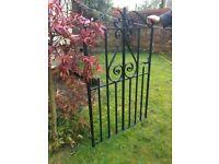 Victorian wrote iron gate
